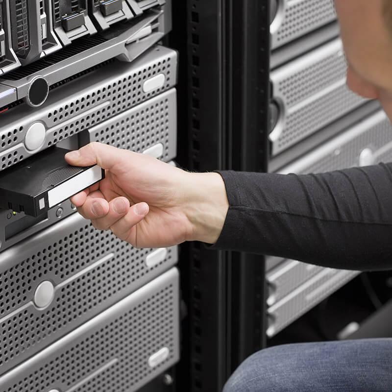 Automatisk säkerhetskopiering - hosted fileserver